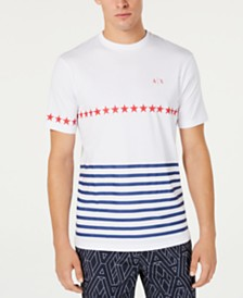 A|X Armani Exchange Men's Stars & Stripes T-Shirt Created For Macy's