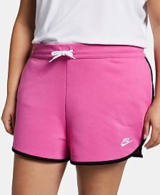 Nike Plus Size Sportswear Heritage Fleece Shorts