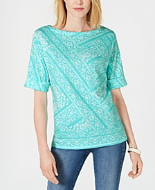 Venice Vines Printed Top, Created for Macy's