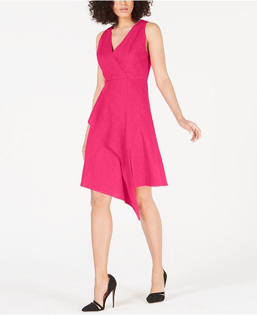 Elie Tahari Isa Asymmetrical Fit & Flare Dress