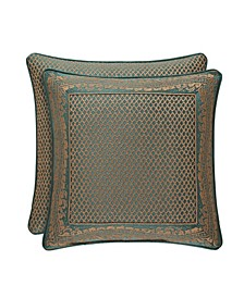 "J Queen Montgomery Emerald Green 20"" Embellished Square"