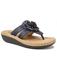Cliffs by White Mountain Carnation Comfort Thong Sandals