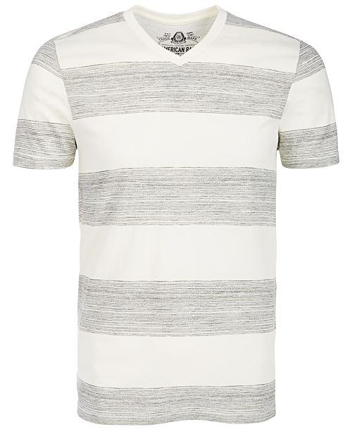 American Rag Men's V-Neck Heathered Striped T-Shirt, Created for Macy's