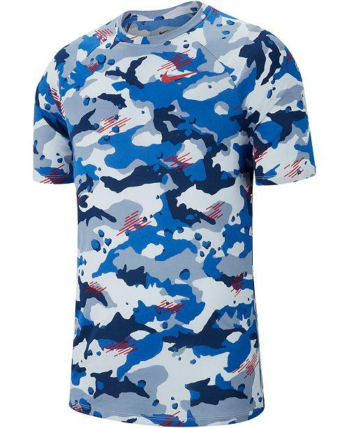 a0937f4931d962 Nike Men's Dry Legend Camo-Print T-Shirt & Reviews - T-Shirts - Men ...