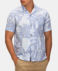 Hurley Men's Sig Zane Maloulu Printed Camp Shirt