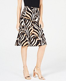INC Animal-Print Trumpet Skirt, Created for Macy's