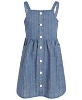 8f15033f5ca Epic Threads Big Girls Striped Denim Cotton Dress, Created for Macy's
