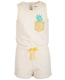 Big Girls Pineapple Knit Romper, Created for Macy's
