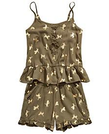 Big Girls Two-Piece Zebra-Print Tank Top & Shorts Set, Created for Macy's