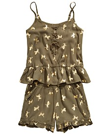 Epic Threads Big Girls Two-Piece Zebra-Print Tank Top & Shorts Set, Created for Macy's