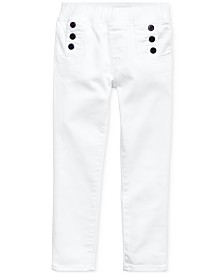 Polo Ralph Lauren Little Girls Nautical Aubrie Denim Leggings