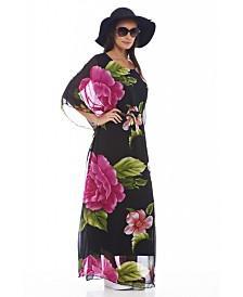 AX Paris Floral Batwing Maxi Dress