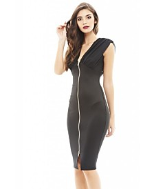 AX Paris Chiffon Top Bodycon Zip Dress