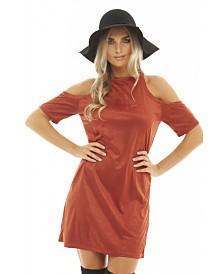 AX Paris Cold Shoulder Suede Dress