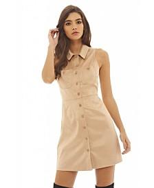 AX Paris Faux Suede Shirt Dress