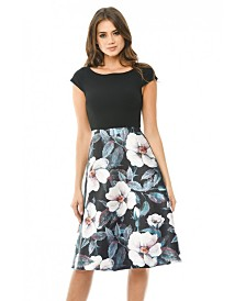 AX Paris 2 in 1 Skater Skirt Midi Dress
