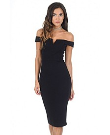 Bardot Midi Dress