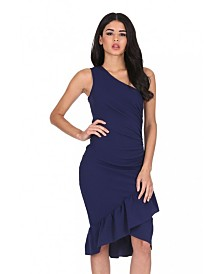 AX Paris Asymmetric Side Ruched Dress