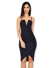 AX Paris V Front Strappy Bodycon Dress