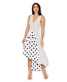 AX Paris Polka Dot Asymmetric Dress