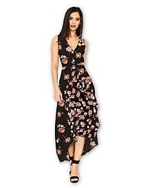 AX Paris Floral V Neck Midi Dress