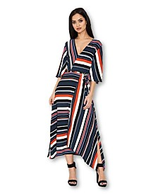 AX Paris Block Color Stripe Midi Dress
