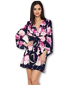 AX Paris Floral Print Wrap-Style Dress