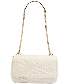 DKNY Allen Leather Flap Shoulder Bag, Created for Macy's