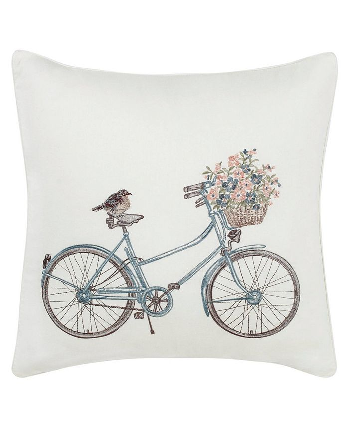 Laura Ashley - Bicycle Throw Pillow