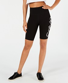 Calvin Klein Performance Logo High-Waist Bike Shorts