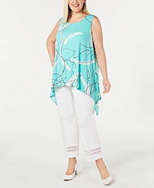 Plus Size Abstract-Print Tunic, Created For Macy's