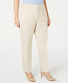 Plus Size Slim Tummy-Control Pants,  Created for Macy's