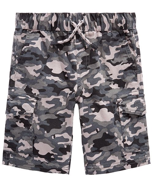 Epic Threads Little Boys Stretch Camouflage Twill Cargo Shorts, Created for Macy's