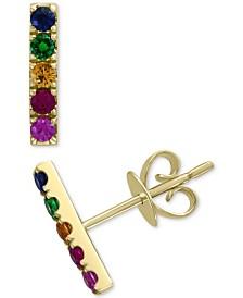 EFFY® Multi-Sapphire (3/8 ct. t.w.) Drop Earrings in 14k Gold
