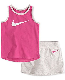 Nike Baby Girls 2-Pc. Tank Top & Dot-Print Scooter Skirt Set