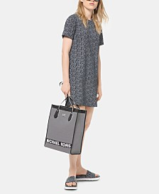 Michael Michael Kors Cotton Logo T-Shirt Dress
