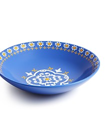 Martha Stewart Collection La Dolce Vita Blue Dinner Bowl, Created for Macy's