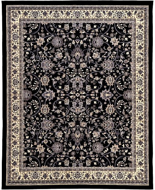 Bridgeport Home Arnav Arn1 Black 8' x 10' Area Rug