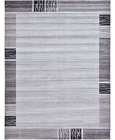 Bridgeport Home Lyon Lyo1 Light Gray 9' x 12' Area Rug