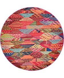 CLOSEOUT! Arcata Arc4 Multi 6' x 6' Round Area Rug