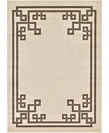 Anzu Anz3 Beige/Brown 7' x 10' Area Rug