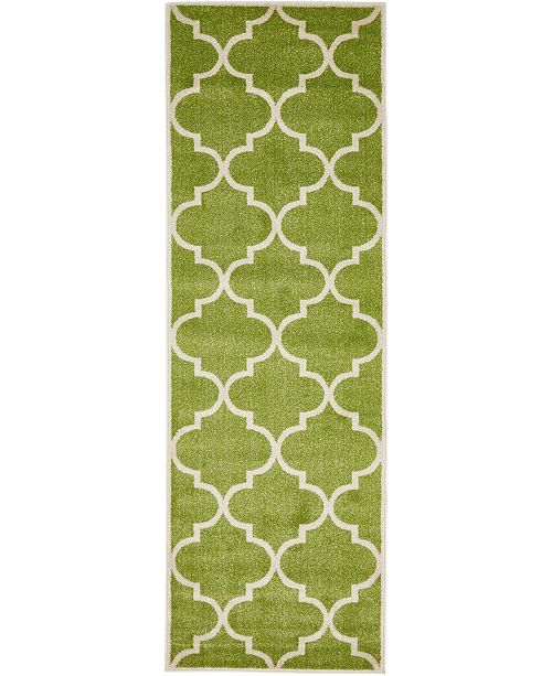 "Bridgeport Home Arbor Arb3 Green 2' 7"" x 8' Runner Area Rug"