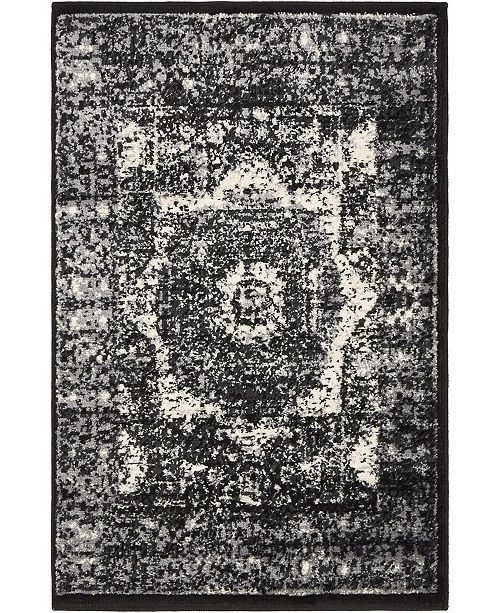 Bridgeport Home Linport Lin7 Black 2' x 3' Area Rug