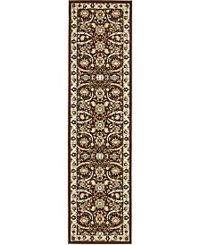 "Bridgeport Home Aelmoor Ael1 Brown 2' 7"" x 10' Runner Area Rug"