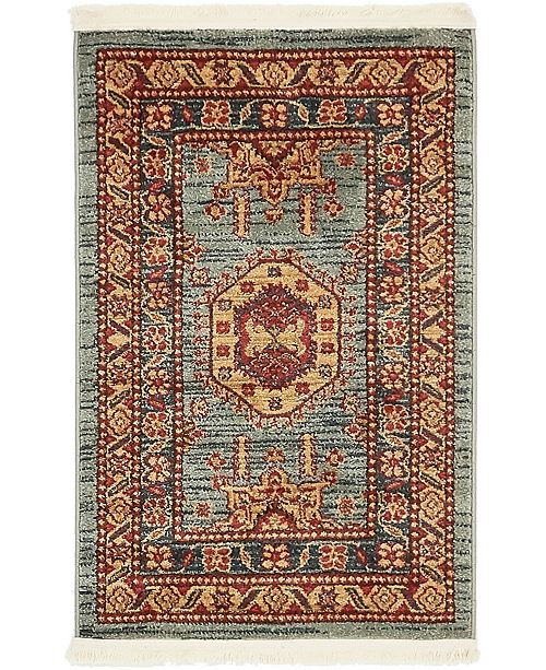 "Bridgeport Home Harik Har1 Light Blue 2' 2"" x 3' Area Rug"