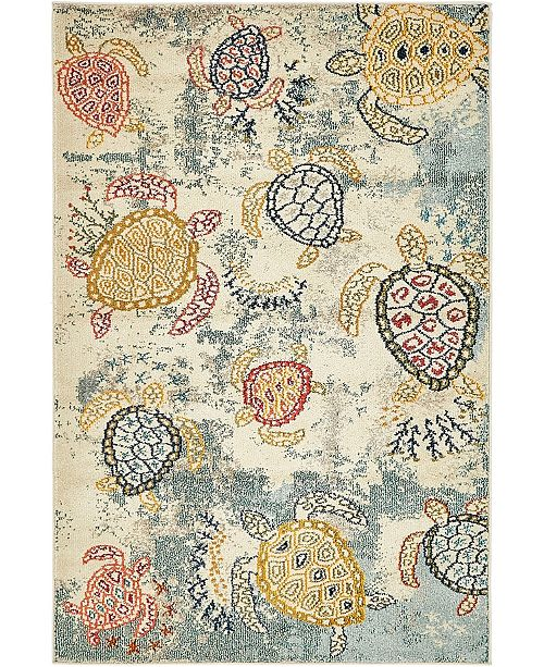 Bridgeport Home Ikbal Ikb7 Beige 4' x 6' Area Rug