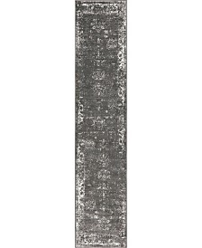 "Bridgeport Home Basha Bas1 Dark Gray 2' x 9' 10"" Runner Area Rug"