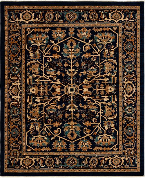 Bridgeport Home Thule Thu1 Navy Blue 8' x 10' Area Rug