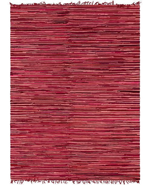 Bridgeport Home Jari Striped Jar1 Red 9' x 12' Area Rug