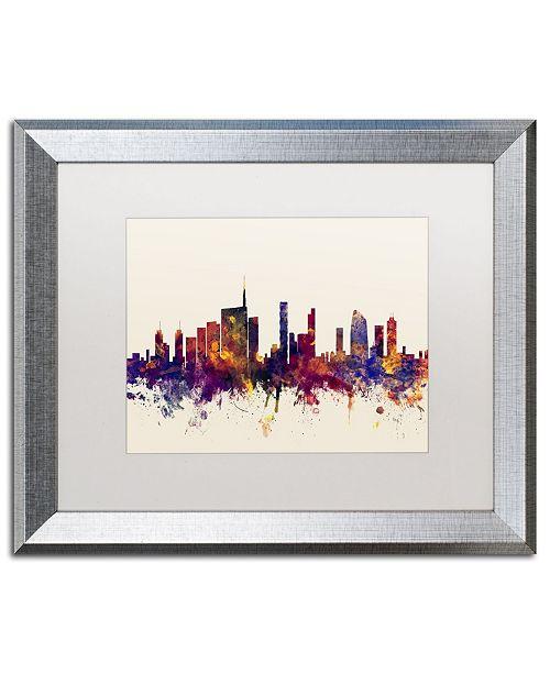 """Trademark Global Michael Tompsett 'Milan Italy Skyline' Matted Framed Art - 16"""" x 20"""""""